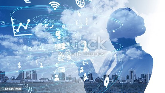 1054574034istockphoto IoT (Internet of Things) concept. Business and technology. 1154382595
