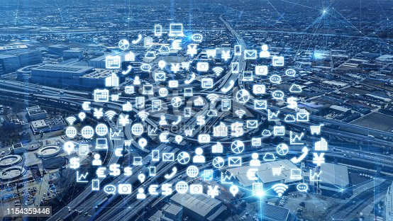 istock IoT (internet of Things) concept. Cloud computing. 1154359446