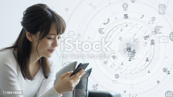 istock IoT (Internet of Things) concept. Communication network. 1146418598