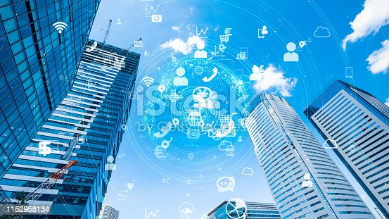 istock IoT (Internet of Things) concept. Communication network. 1152958134