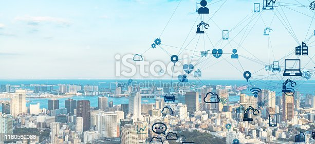 622809570 istock photo IoT (Internet of Things) concept. Communication network. 1180562068