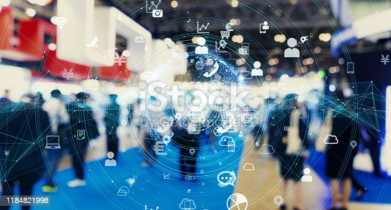 istock IoT (Internet of Things) concept. Communication network. 1184821998