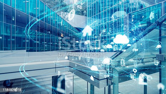 1127070103 istock photo IoT (Internet of Things) concept. Communication network. 1184826015