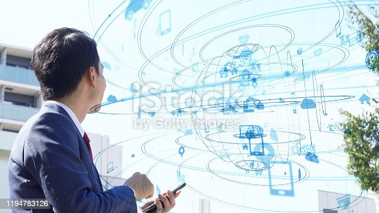479762254 istock photo IoT (Internet of Things) concept. Communication network. 1194783126
