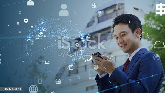 479762254 istock photo IoT (Internet of Things) concept. Communication network. 1194783174