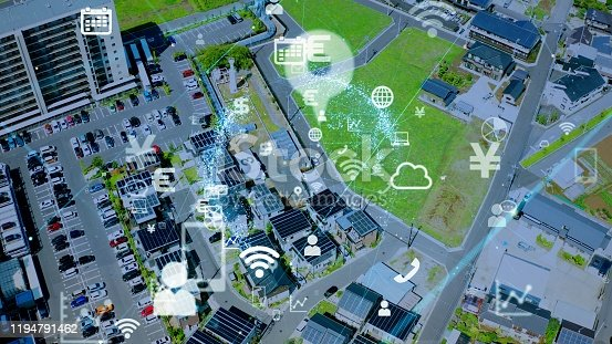 622809570 istock photo IoT (Internet of Things) concept. Communication network. 1194791462
