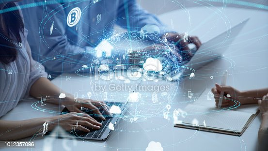 istock IoT (Internet of Things) concept. 1012357096