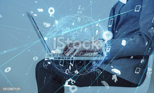 istock IoT (Internet of Things) concept. 1012357122