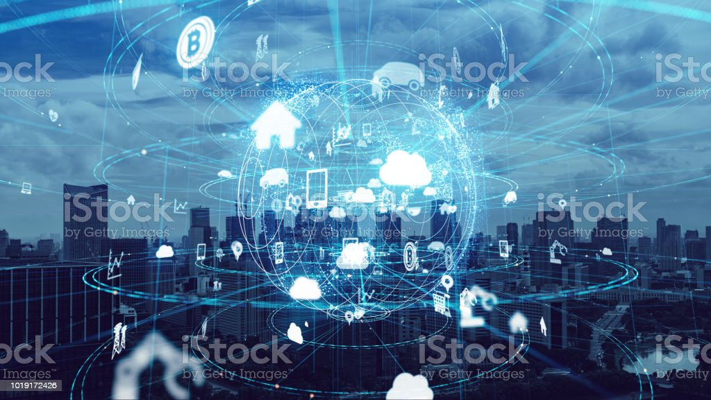 IoT (Internet of Things) concept. royalty-free stock photo