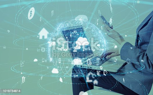 istock IoT (Internet of Things) concept. 1019734614