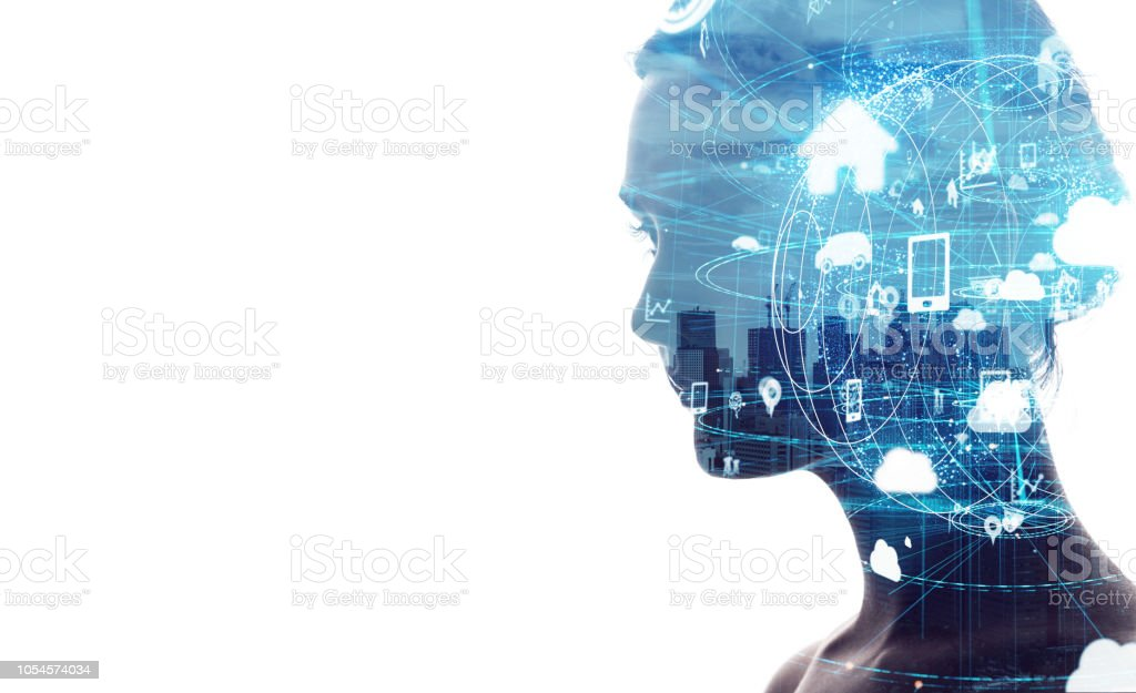 IoT (Internet of Things) concept. stock photo