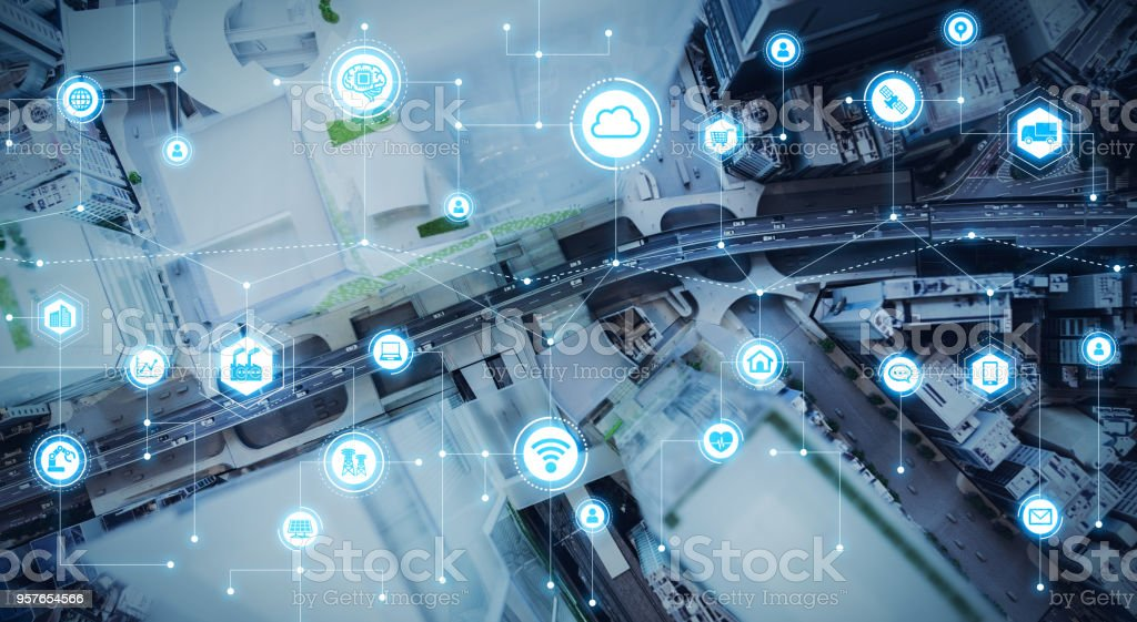 IoT(Internet of Things) concept. royalty-free stock photo