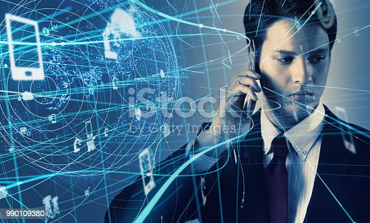 istock IoT (Internet of Things) concept. 990109380