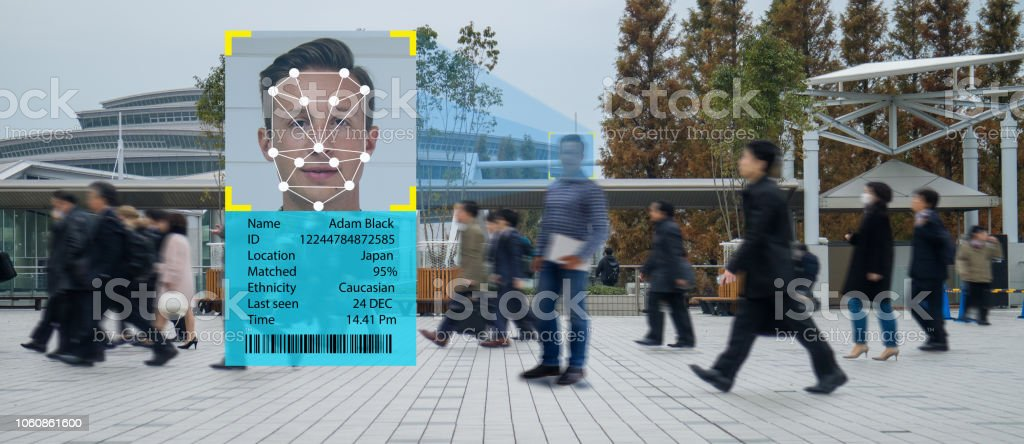 iot machine learning with human and object recognition which use artificial intelligence to measurements ,analytic and identical concept, it invents to classification,estimate,prediction, database stock photo
