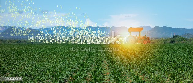 istock iot smart farming, agriculture in industry 4.0 technology with artificial intelligence and machine learning concept. it help to improve, categorized, specified goal, solve problem, keep goal, predict 1050032028