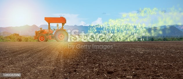 1127437312istockphoto iot smart farming, agriculture in industry 4.0 technology with artificial intelligence and machine learning concept. it help to improve, categorized, specified goal, solve problem, keep goal, predict 1050032050