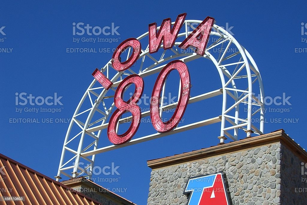 Iowa 80 Truckstop stock photo