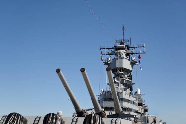 USS Iowa Battleship stock photo