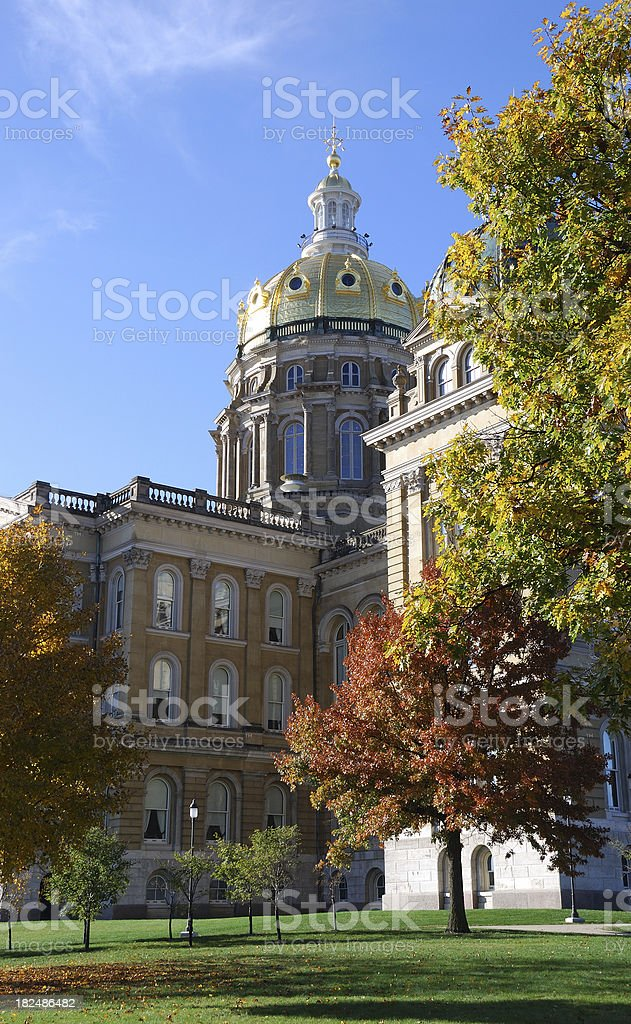 Iowa Capital royalty-free stock photo