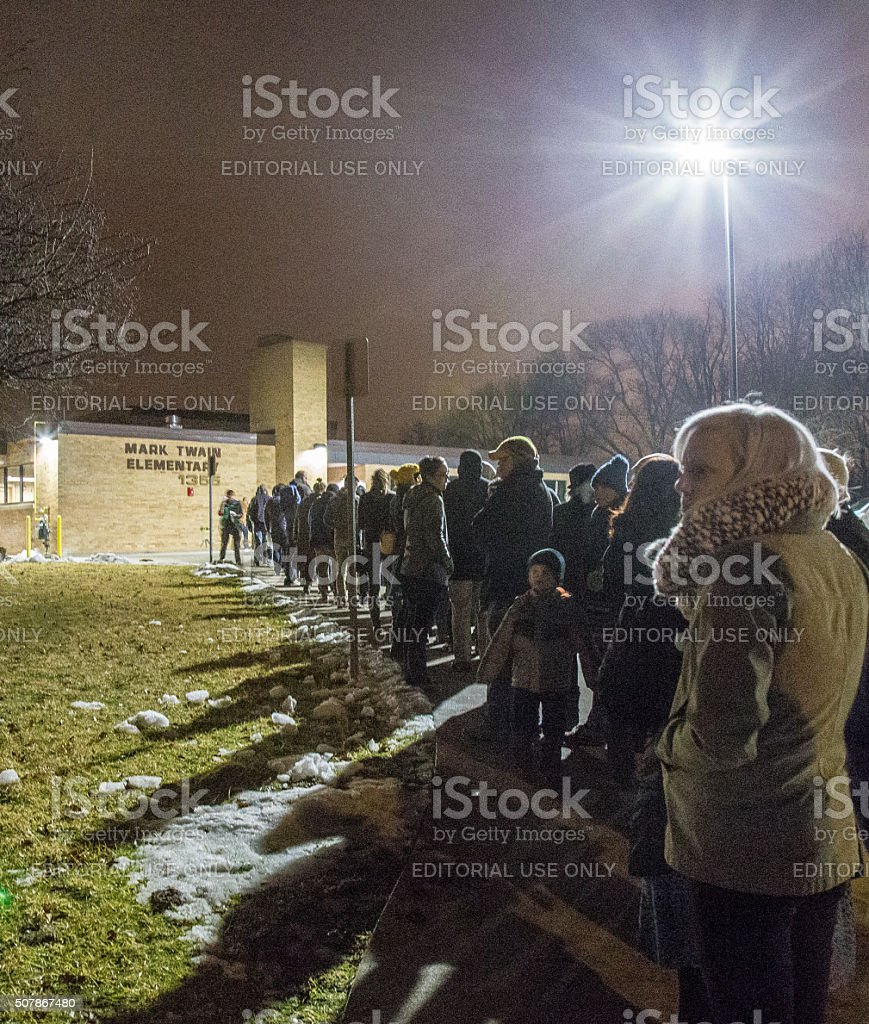 2016 Iowa Caucus In Iowa City stock photo
