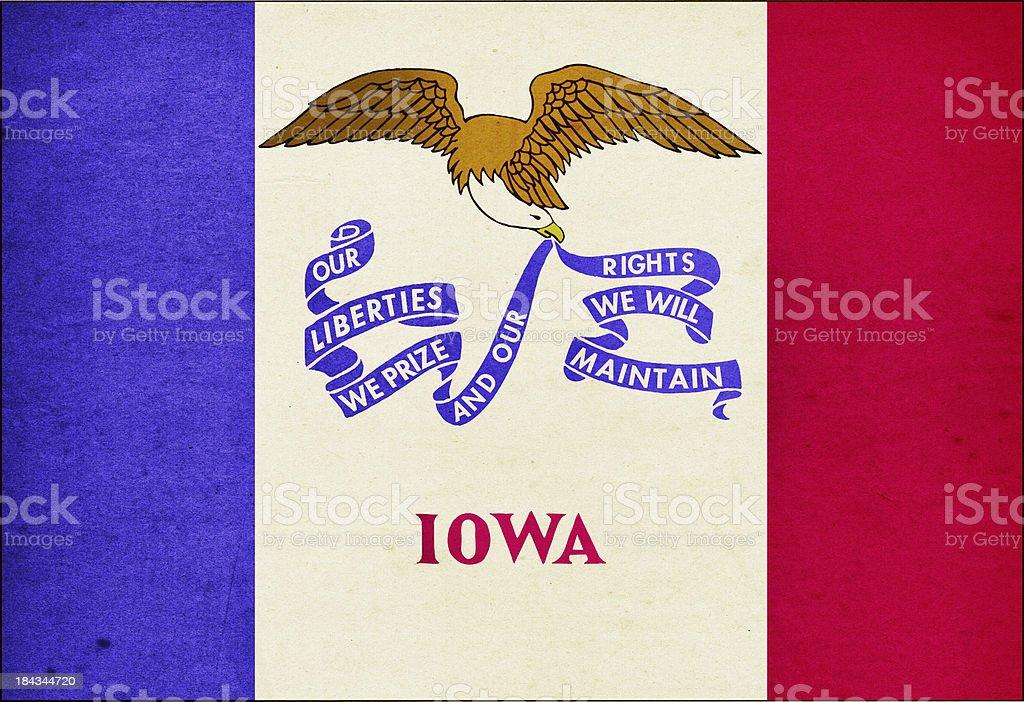 Iowa Flag Close-Up (High Resolution Image) stock photo