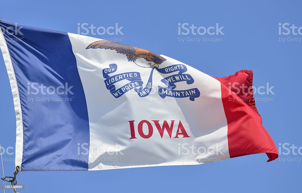 Iowa Flag royalty-free stock photo