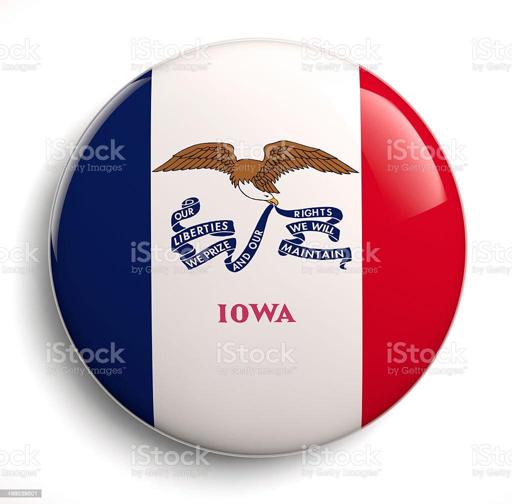 Iowa flag stock photo