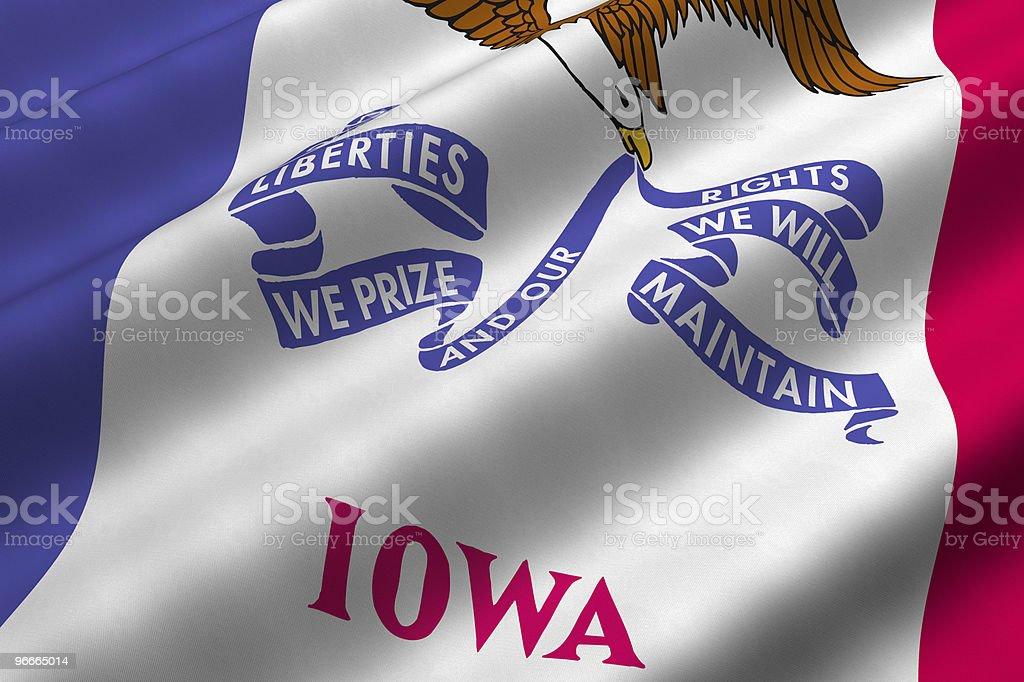 Iowa Flag royalty-free stock photo