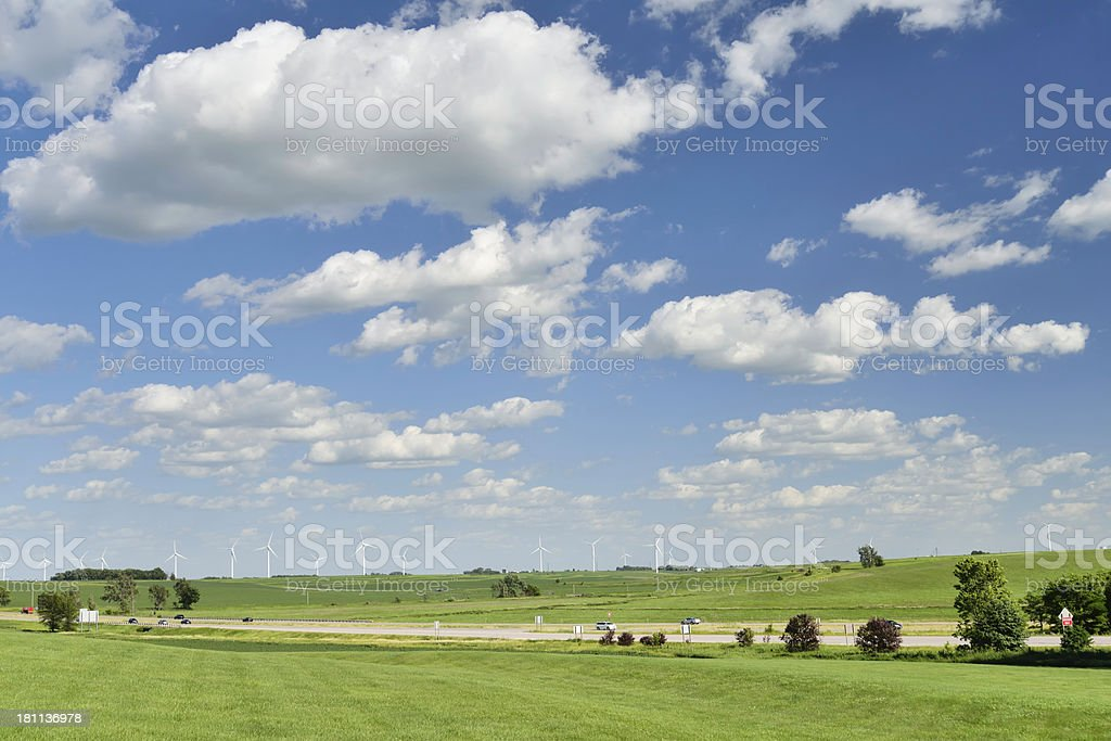 Iowa Landscape royalty-free stock photo