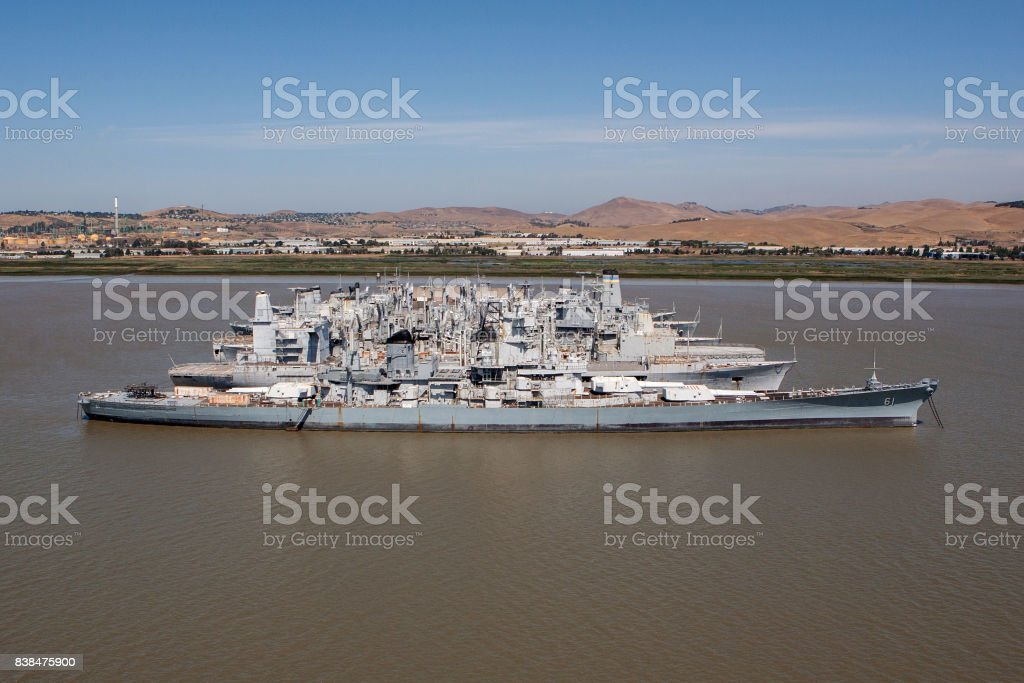 USS Iowa stock photo