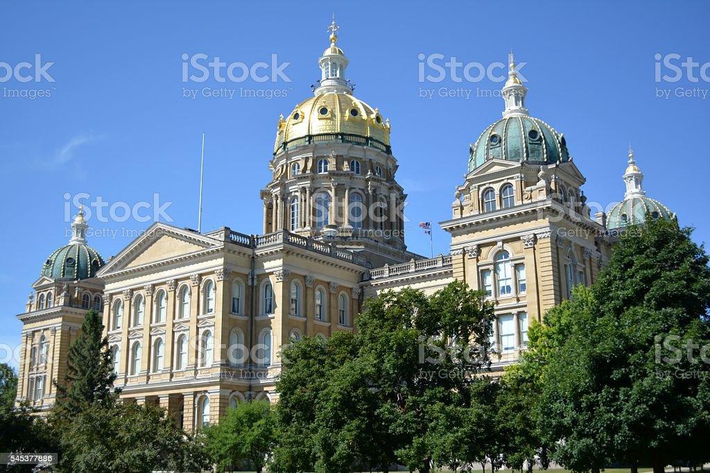 Iowa State Capitol Building-Des Moines Iowa stock photo