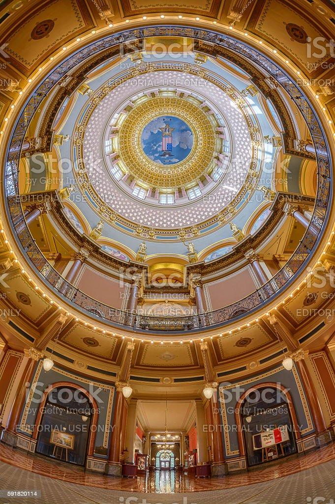 Iowa State Capitol dome stock photo