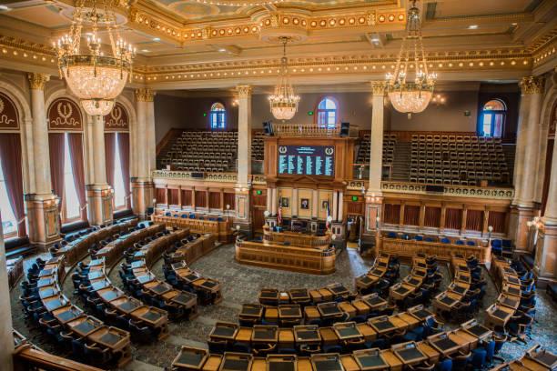 Iowa State Capitol stock photo