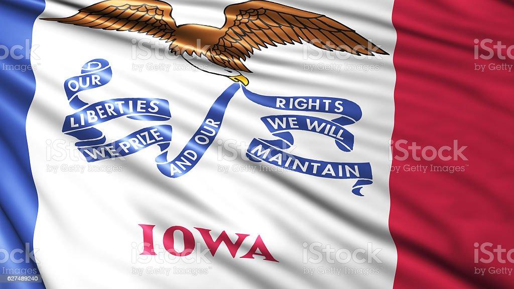 Iowa State Flag stock photo