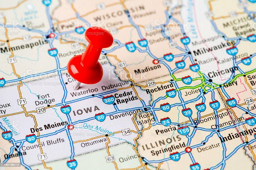 Iowa state stock photo