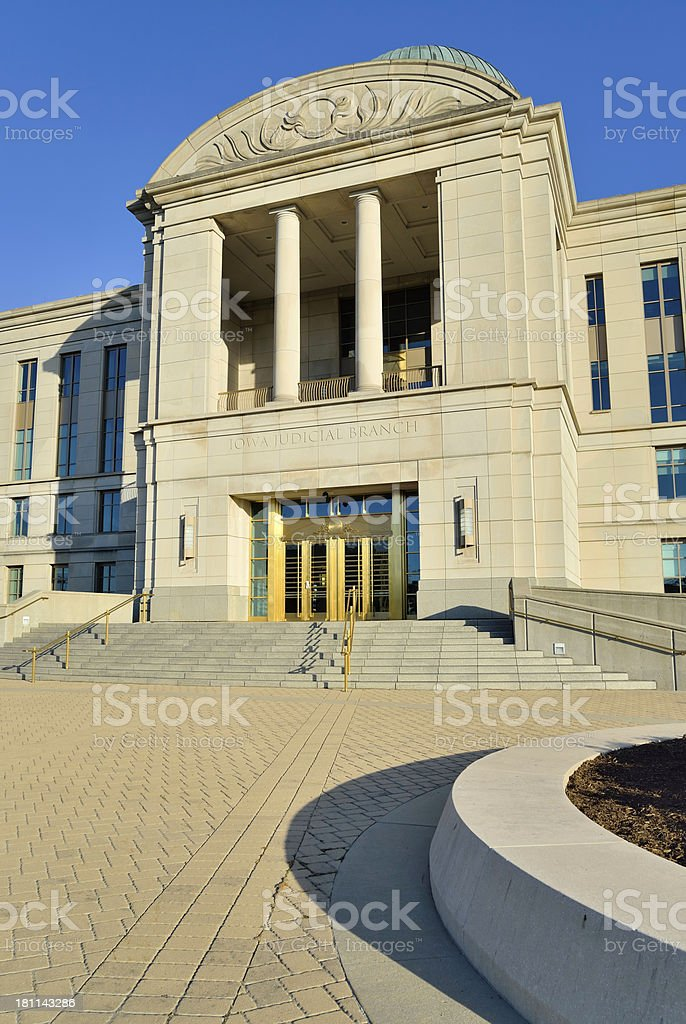 Iowa Supreme Court royalty-free stock photo