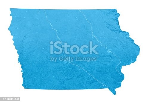 173169385 istock photo Iowa Topographic Map Isolated 471694905