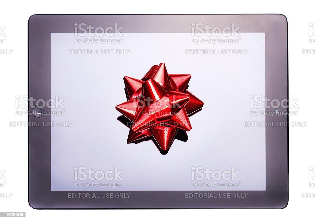 Ipad 3 gift for christmas stock photo