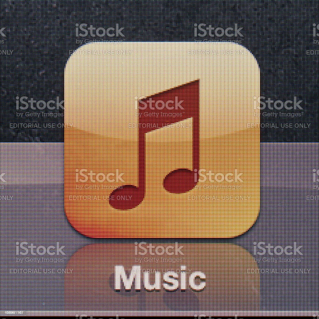 Ipad 3 icon royalty-free stock photo