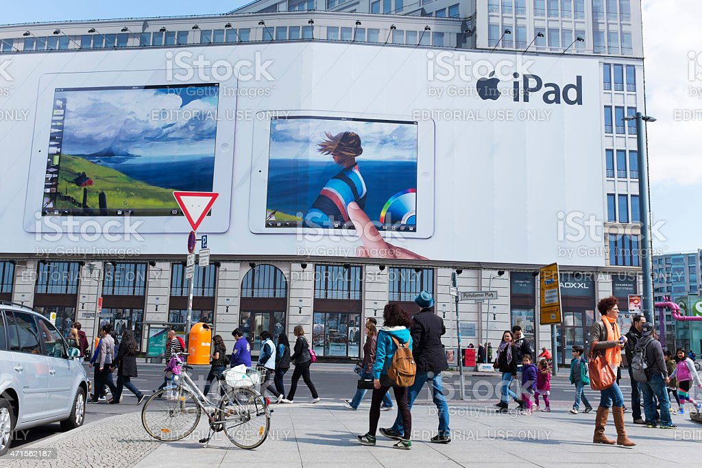 iPad advertising royalty-free stock photo