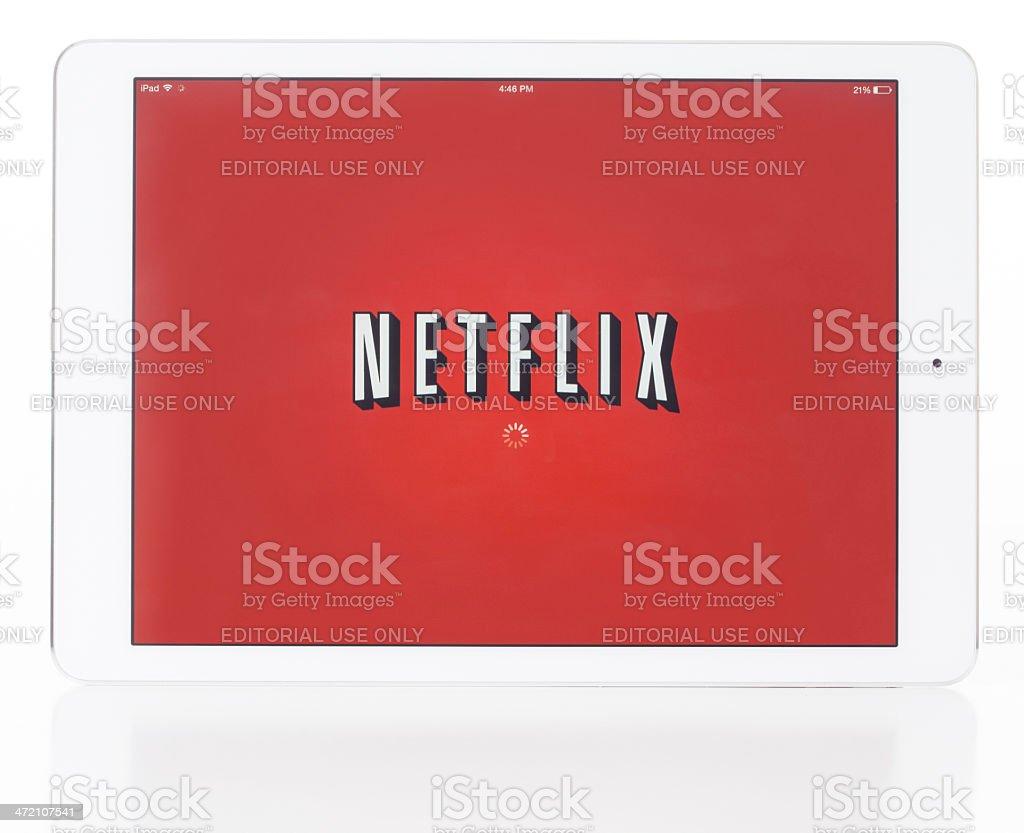 Ipad Air and Netflix stock photo