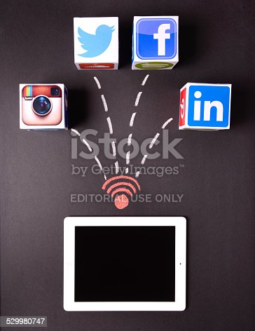 istock iPad and social network services 529980747