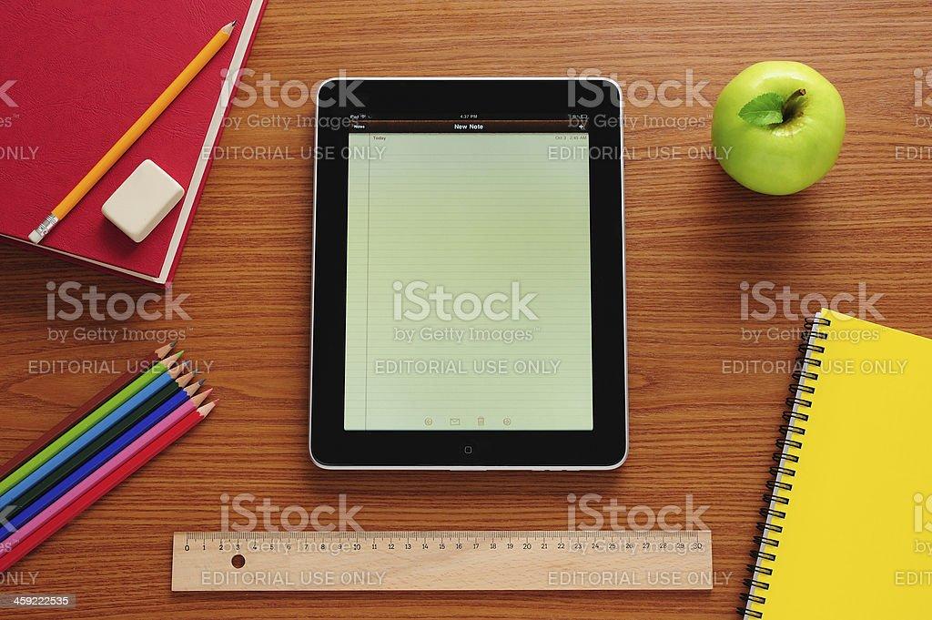iPad at school royalty-free stock photo