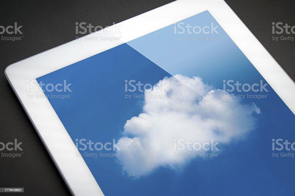 iPad cloud computing! royalty-free stock photo