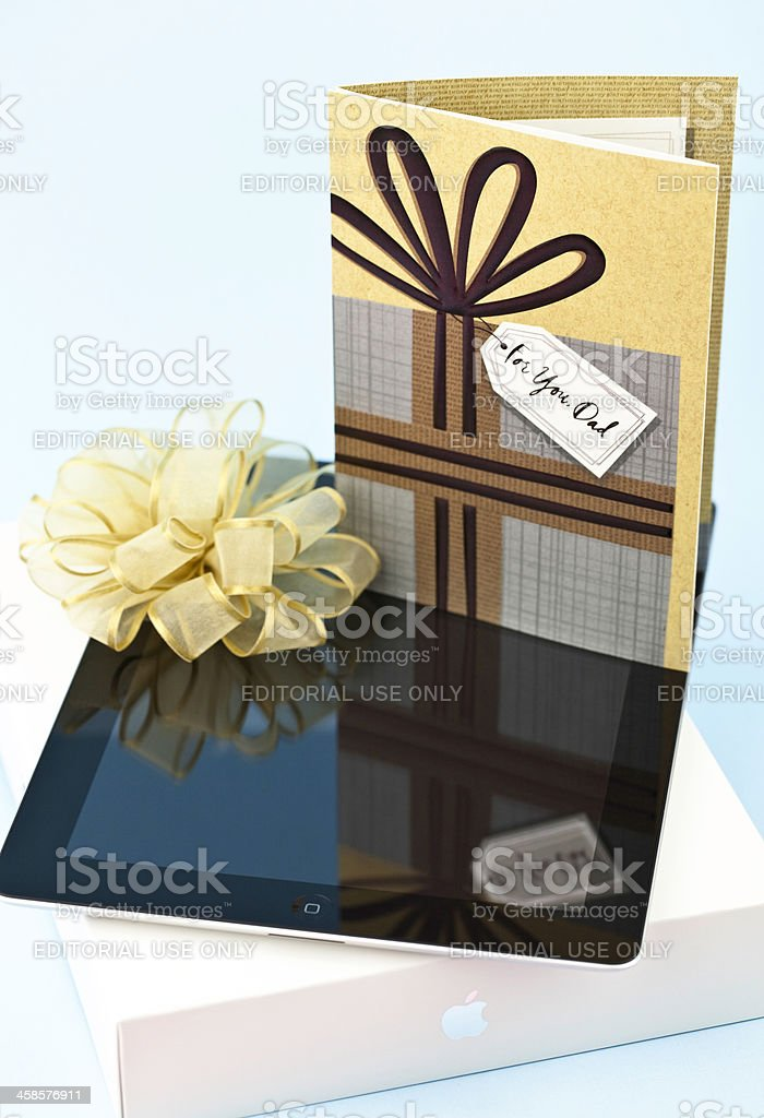 iPad for Dad royalty-free stock photo