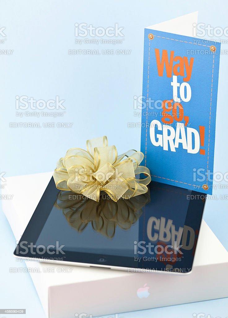 iPad for Grad stock photo