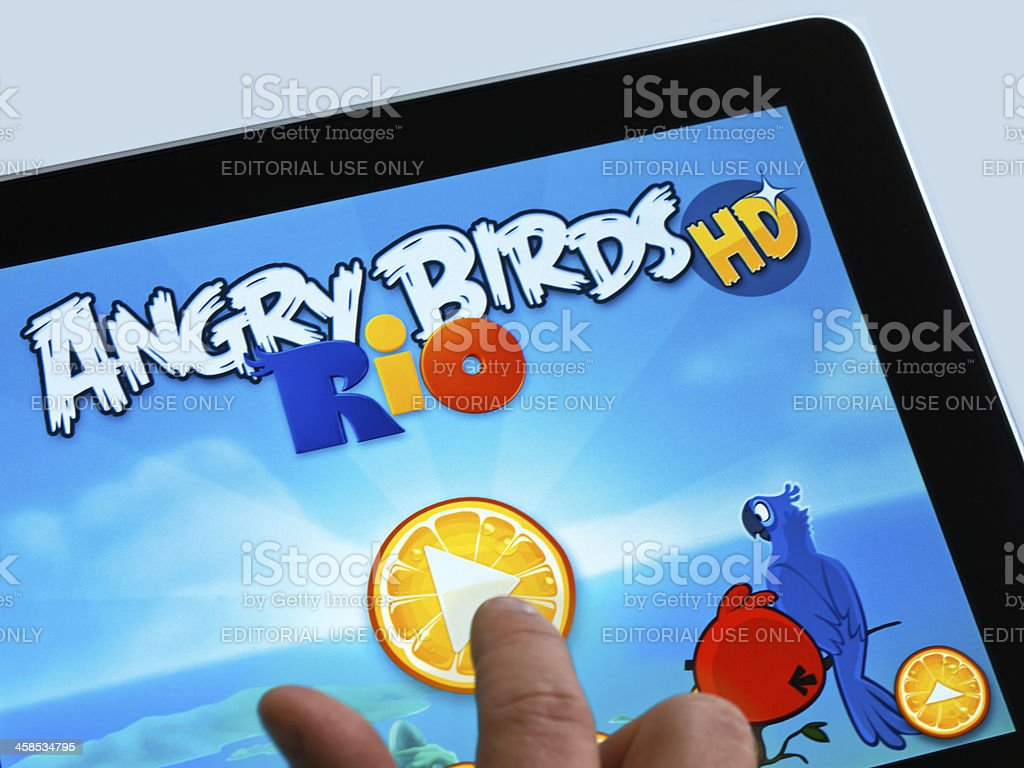 iPad Game stock photo