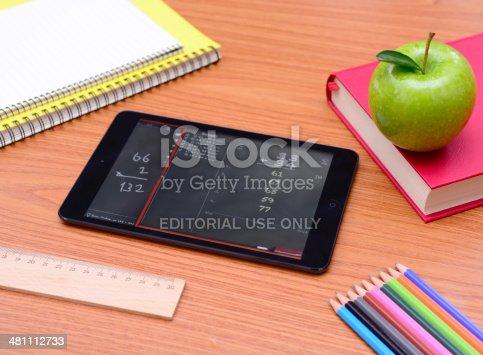 istock iPad mini at school 481112733