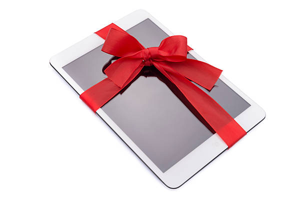 ipad mini prezent na gwiazdkę - ipad zdjęcia i obrazy z banku zdjęć
