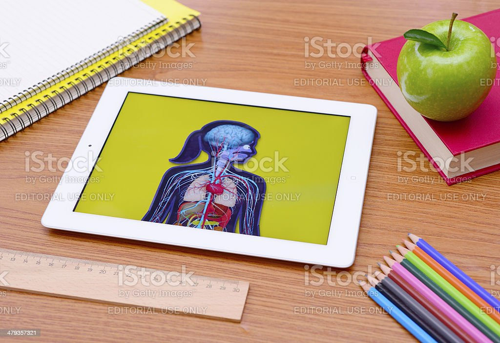 iPad tablet pc at school royalty-free stock photo